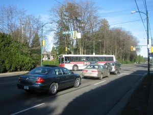 3118 turning from 57th Ave to Granville Street