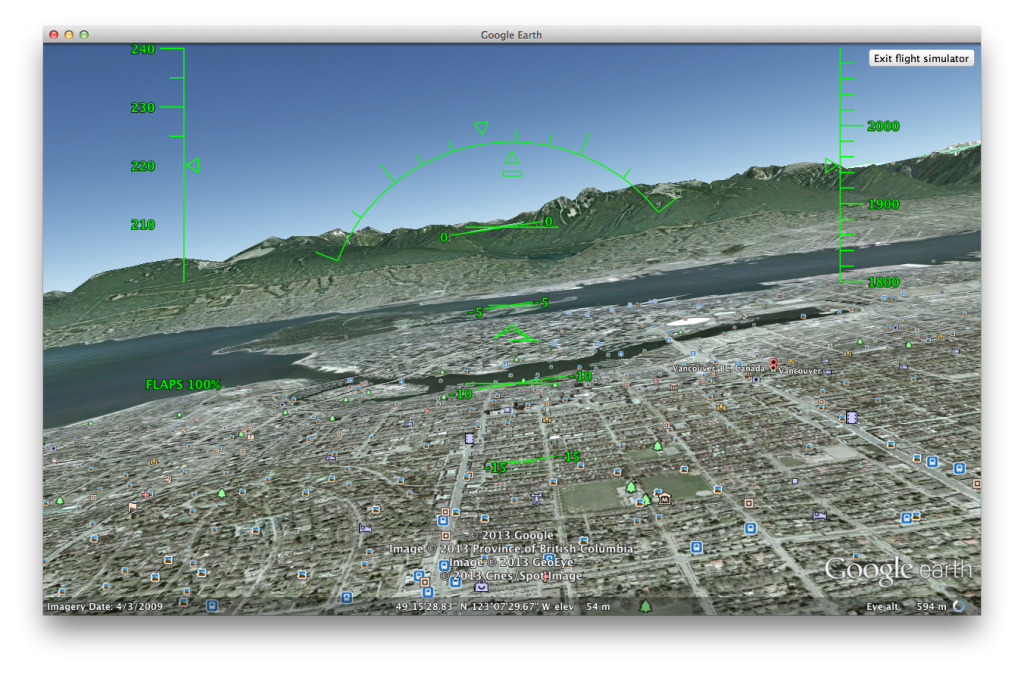 Flying in Google Earth