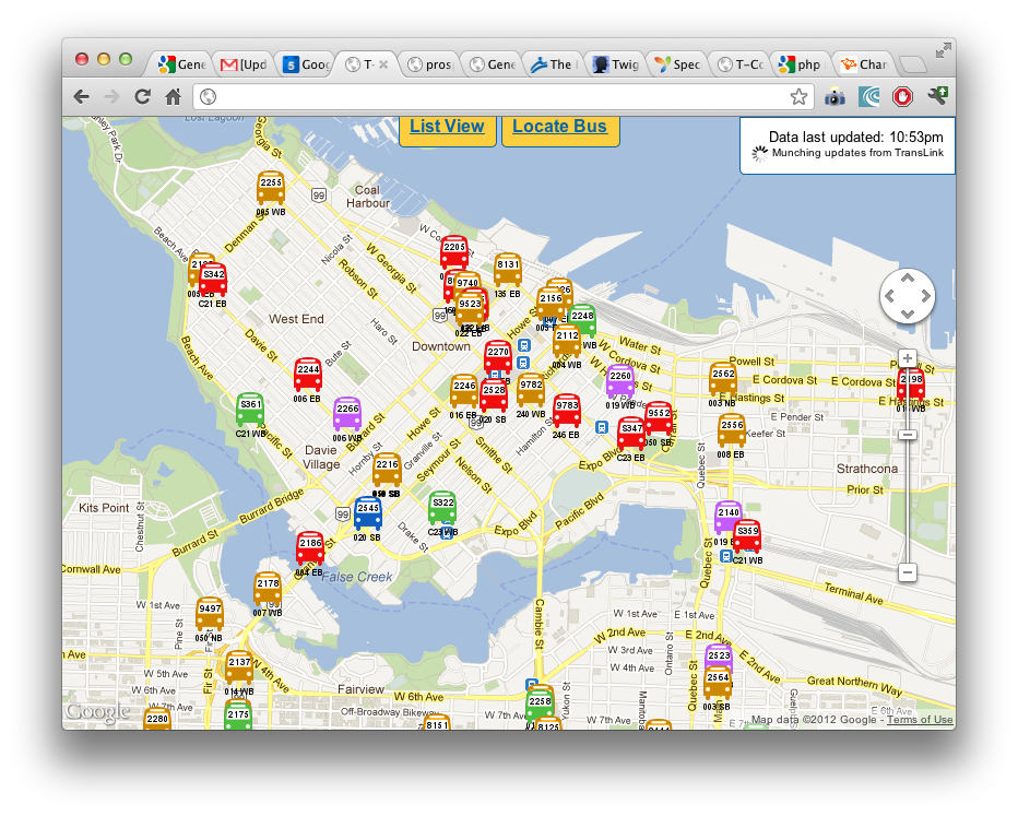 Side Project 1: Real Time Bus Map in Vancouver