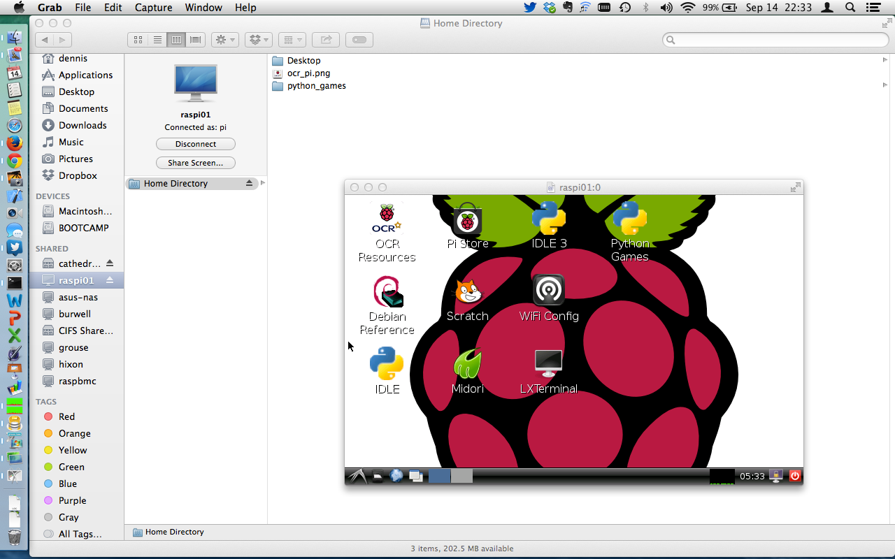 Setting up a Raspberry Pi with file sharing and screen