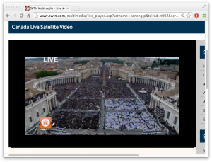 Crowd in St. Peter's Square estimated at 800,000 people