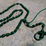 Rosary from knotting a cord, not quite finished.