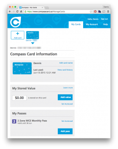 Compass Card Website
