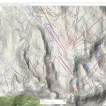 Whistler Ski Run Topographic Map