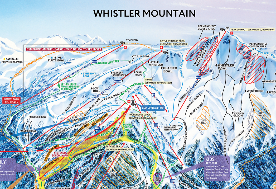 Topographic Map Mountain.Whistler Ski Run Topographic Map Dennis Tsang