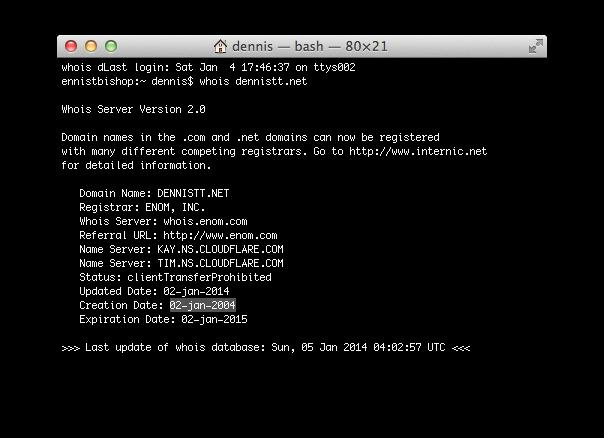 DennisTT.Net Domain Whois