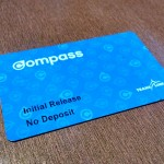 Finally tapping in using the Compass Card