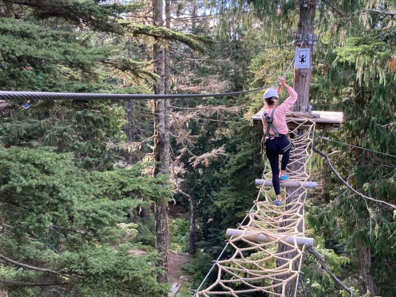 The Mountain Ropes Adventure on Grouse Mountain
